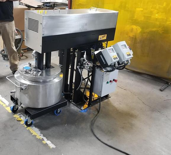 NEW 10 GALLON DUAL SHAFT MIXER - S/S - VACUUM JACKETED