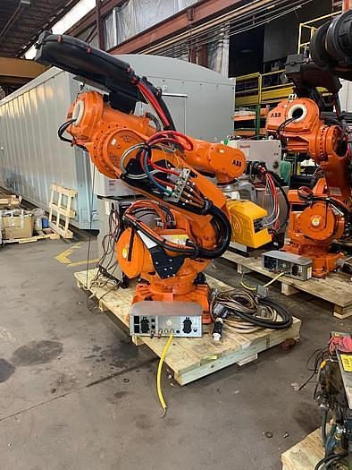 2014 ABB IRB 6640 180/2.55 WITH ARO SPOT WELDING GUN AND REXROTH WELDING CABINET