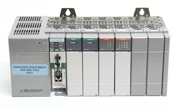 Used Allen-Bradley 1746-A7 7-Slot SLC-5/05 Power 1746-NI 1746-NI4 1746-NO4I (6927)