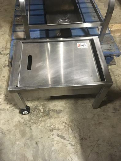 Used CLEVELAND CROWN GARLAND GROEN LEGION SOUTHBEND VULCAN S/S STEAM KETTLE DRAIN TRAY (#710)