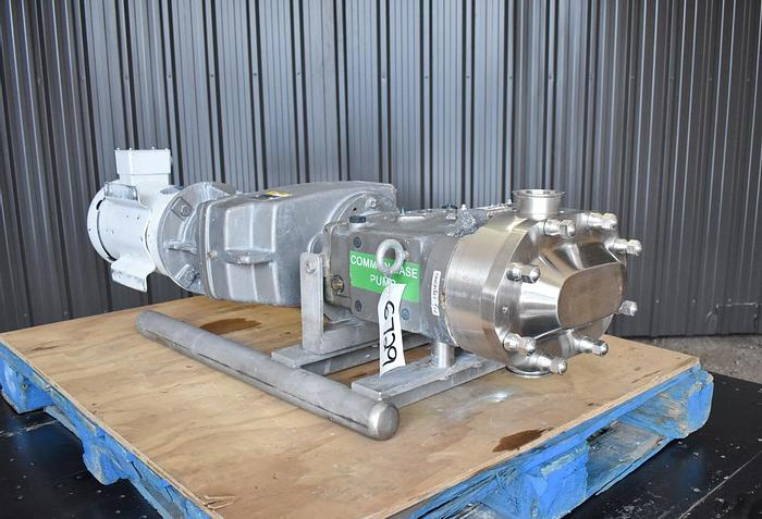 Used USED WAUKESHA ROTARY LOBE PUMP, MODEL 060-U2, STAINLESS STEEL