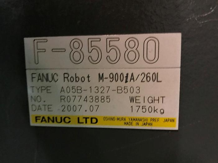2007 FANUC M900iA/260L 6 AXIS CNC ROBOT WITH R30iA CONTROLLER