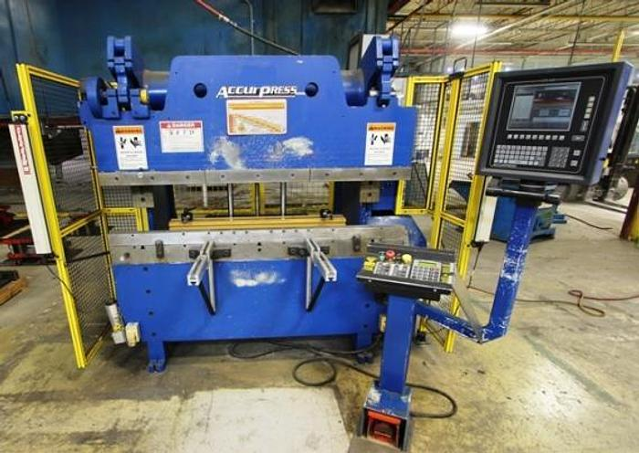 60 TON X 6', ACCURPRESS 7606, 2002, CNC HYDRAULIC PRESS BRAKE