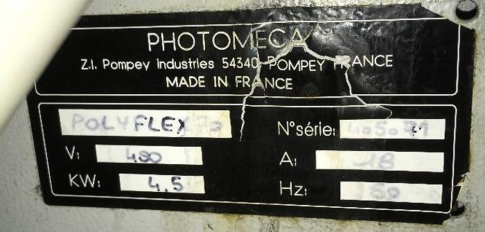 PHOTOMECA POLYFLEX 70 – PHOTOPOLYMERIC PLATE PRODUCTION MACHINE