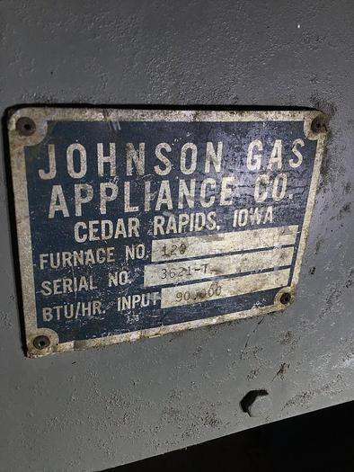 Johnson Mdl. #120 Gas Furnace