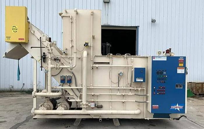 Used HYDROFLOW MODEL HSF-1500-G COOLANT FILTRATION SYSTEM FOR GRINDING SWARF