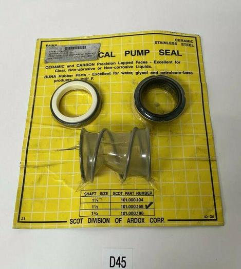 New In Sealed Package Scot Vertical Pump Seal 101.000.168 Fast Shipping