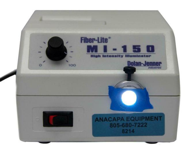 Used Dolan-Jenner Fiber-Lite MI-150 High Intensity Illuminator, 115VAC (8214)W