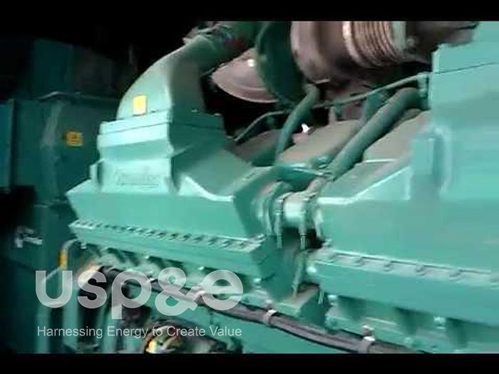 Used 1.8 MW 2019 New Cummins QSK60-G8 Diesel Generator