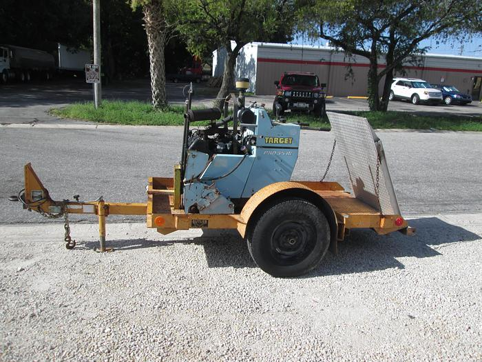 Used Target Pro 35 III Concrete Saw With Single Axle Trailer