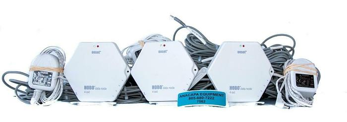 Used Onset ZW-006 HOBO 4-Channel 4 Analog Port Data Node TMC20-HD LOT of 3 (7562) W