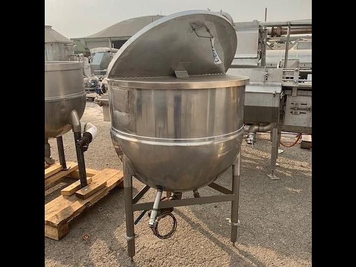 Used Groen 100 Gallon Stainless Steel Jacketed Steam Mix Kettle