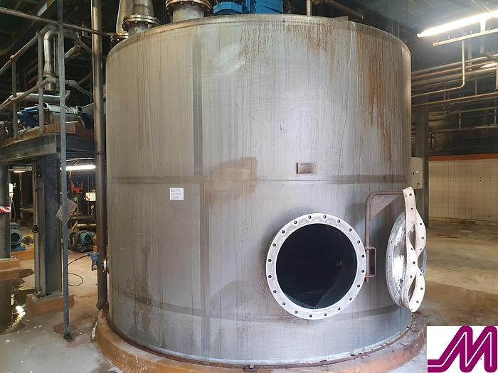 Used Empire 25,000 Litre 316 Stainless Steel Single Skin Mix Tank