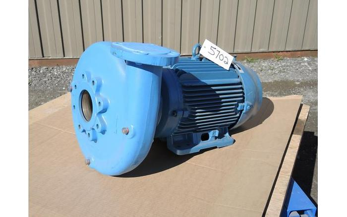 """USED GOULDS CENTRIFUGAL PUMP, 4"""" X 3"""" INLET & OUTLET, CAST IRON"""