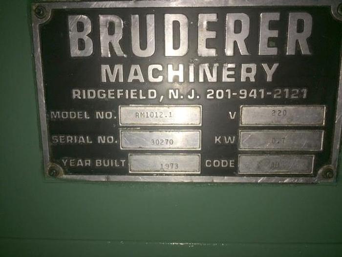 """4.7"""" X .05"""", BRUDERER No. 1012.1, 1973,"""