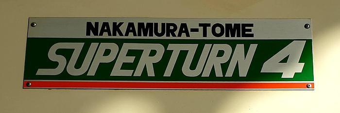 NAKAMURA TOME SUPERTURN 4 CNC TURNING CENTER