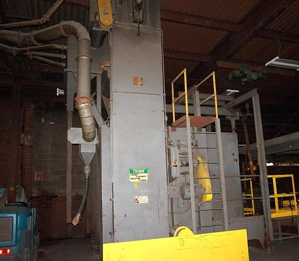 1999 WHEELABRATOR 2 WHEEL SPINNER HANGER SHOT BLAST MACHINE
