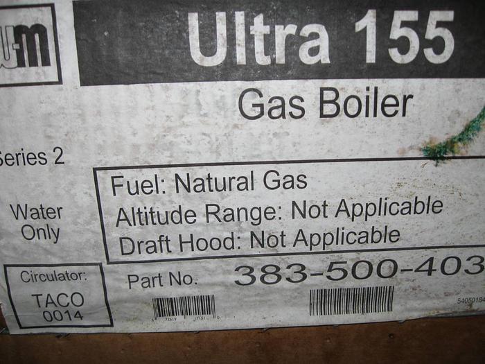 "Weil Mc Lain Ultra 155 Gas Boiler ""Energy Star"" Ultra 155 Energy Star Gas Boiler"
