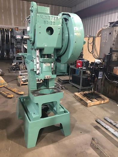 Used 22 Ton, MINSTER, No. B1-22, HIGH SPEED PRESS