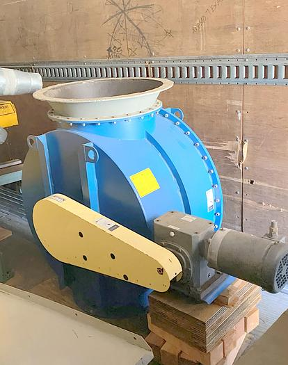 """Used used Donaldson Torit 20 AN rotary valve, used 20"""" airlock   Rubber tip feeder valve"""