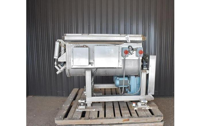 USED DOUBLE PADDLE BLENDER, 25 CUBIC FEET, STAINLESS STEEL