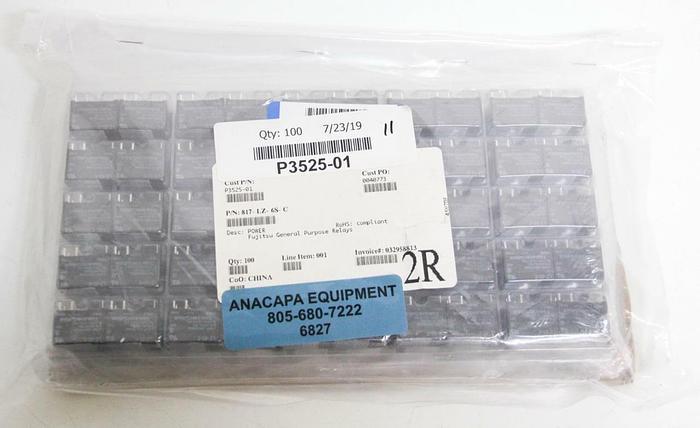 Fujitsu 817-LZ-6S-C General Purpose Relays LOT OF 100 NEW (6827)