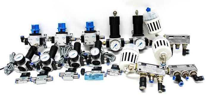Used Festo LRS-D-MINI, LRS-D-7-MIDI, FR-4-1/2, LFU.1/4 Pneumatic Devices Lot 17 (7387