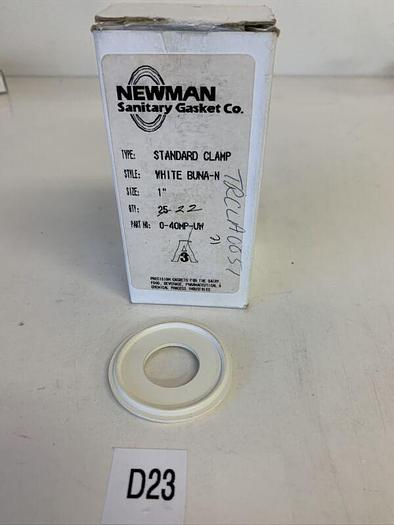 """Newman Sanitary Gasket 40mp-uw Standard Clamp White 1""""Qty. 22 Fast Shipping!"""