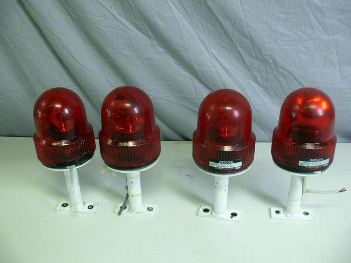 Used Lot of 4 Patlite Red Revolving Warning Light SKH-102