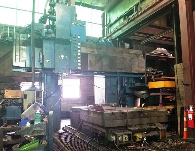 "Used 1980/2014 Waldrich Siegen CNC Bridge Milling Machine, Model VH 37, Table 69"" X 120"", X=149"", Y=79"", 79"" H/UR, Fanuc 16M CNC"