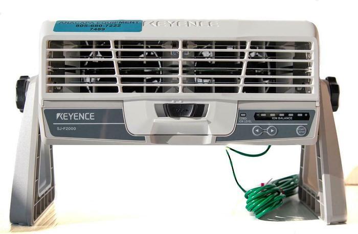Used Keyence SJ-F2000 Ion Balance Wide-Area Static Elimination Blower (7489) W