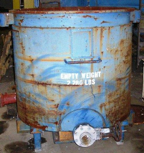 Used 400 Gal Jacketed Carbon Steel Tank, Open Top Empty Weight 2280 lbs