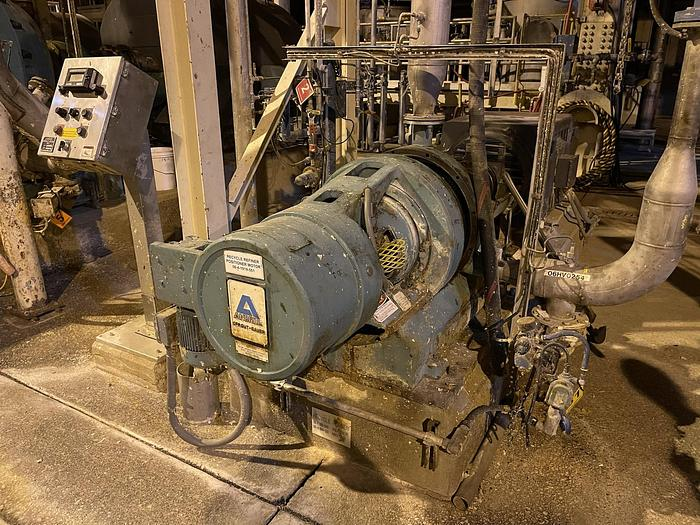 Used ANDRITZ SPROUT BAUER MODEL R20 TF-III REFINER WITH MOTOR