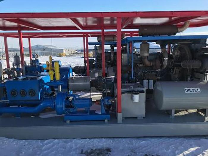 (2) NOV Triplex Well Service Pumps