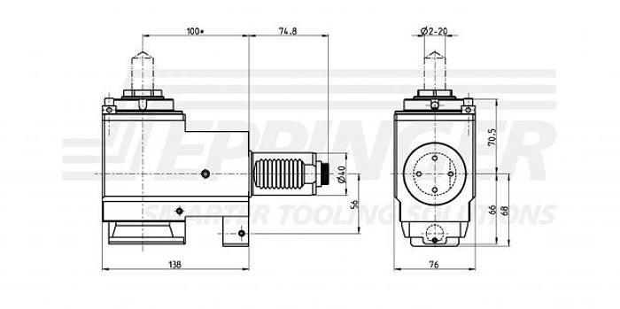 Bohr- Fraeskopf Eppinger 4201002 VDI 40 Werkzeugaufnahme