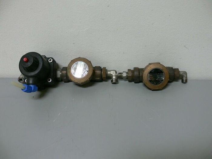 Used Lot of 2 - Spirax Sarco BPT13S 16bar 225C Valve + Gemu 615/12/D Pst 5, 90 Grad C