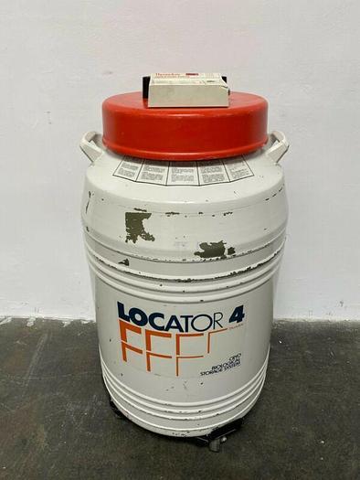 Used Thermolyne Locator 4 Cryo Biological Storage System w/ Liquid Nitrogen Monitor