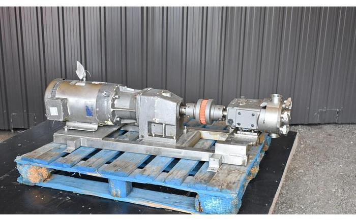 USED WAUKESHA ROTARY LOBE PUMP, MODEL 40, STAINLESS STEEL