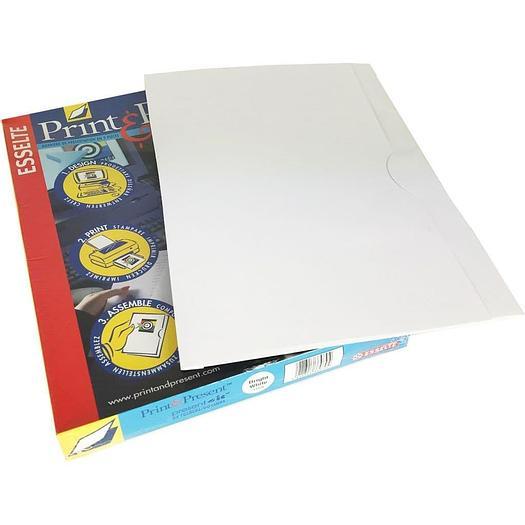 Present-It Presentation Folder Panel-Style - Bright White (100)