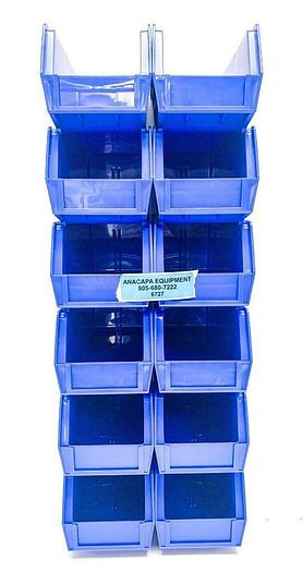"Global Industrial 269688BL Storage Bin Set, 4-1/8 x 10-7/8 x 4"" Lot of 60 (6727)"