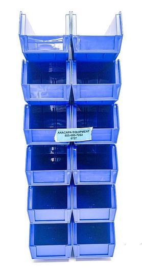 """Global Industrial 269688BL Storage Bin Set, 4-1/8 x 10-7/8 x 4"""" Lot of 60 (6727)"""