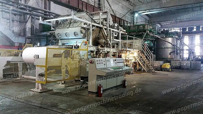 (PMT-34) - Tissue Paper machine - 1 Wire Fourdrinier -/including stock preparation and Slitter Rewinder