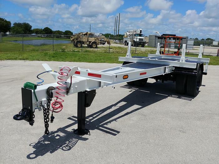 Used 2015 Lucon Extendable SA AB Utility Pole Trailer - 23397