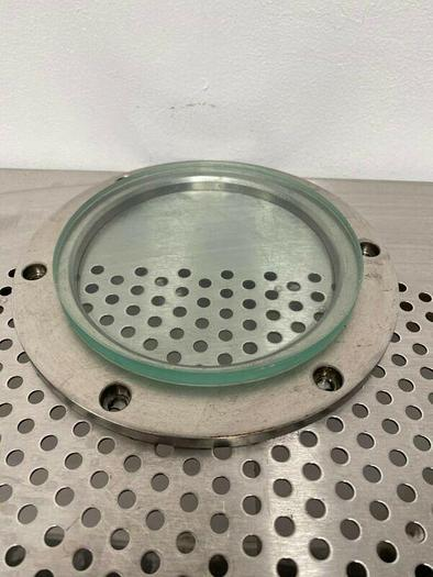 """Used Circular 6"""" Sight Glass w/ Stainless Steel Frame"""