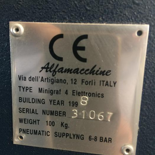 1998 Alfarimini Minigraf 4 elettronica