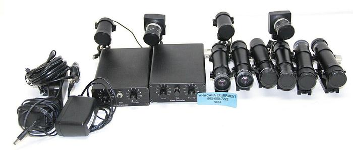 Used Arrington Research Camera, Kowa Lens 25mm, Flash Controllers, Lot of 17 (5064)