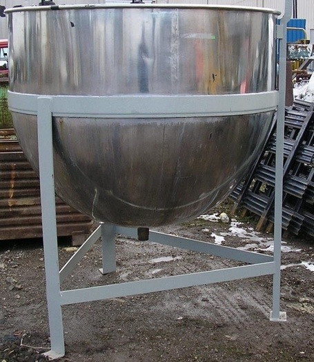500 Gal Open Top Stainless Steel Kettle, No Jacket On Stand