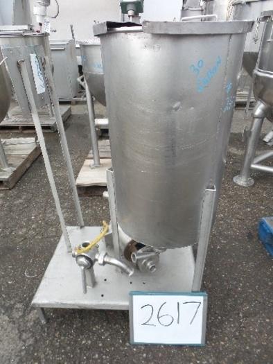 41521-D4 30 Gallon Vertical Stainless Steel Tank #2617