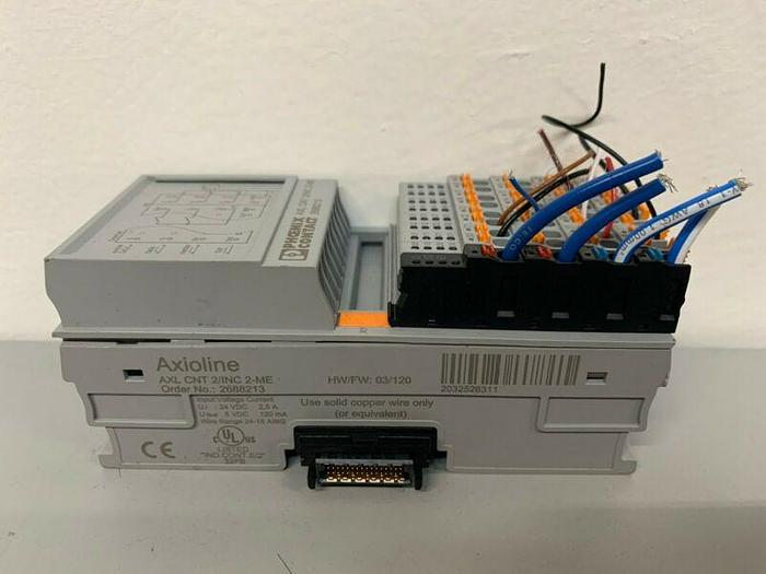 Used Phoenix Contact Axioline AXL CNT 2/INC 2-ME PLC Special Function Module