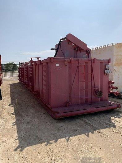 Used Workover Tank with Hydraulic Shaker and Platform